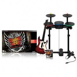 Guitar Hero 6 Warriors of Rock Super Band Bundle Playstation 3 PS3