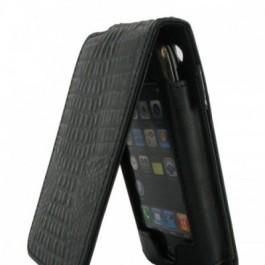 iPhone Leather Flip Case Mock Croc Skin Look