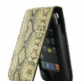 iPhone Leather Flip Case Snake skin Look