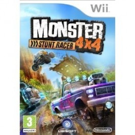 Monster 4x4 Stuntrace - with Free Wheel Nintendo Wii