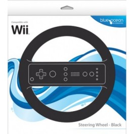 Steering Wheel Black Wii