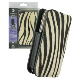 iPhone Leather Flip Case Zebra Skin Look