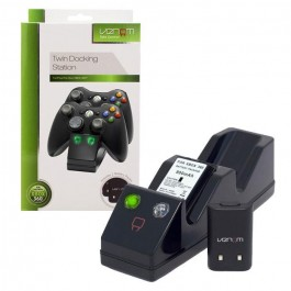 Venom Xbox 360 Twin Dock Controller Charging Station & Battery Packs - Black