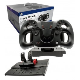 PlayStation Officially Licensed Pace Racing Steering Wheel with Foot Pedals PS4