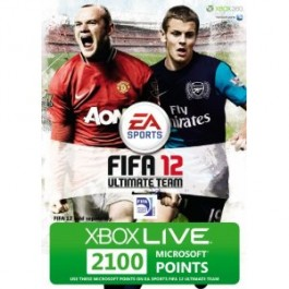 Xbox Live 2100 Points Card FIFA 12 Branded Xbox 360 Game NOT included UK Only