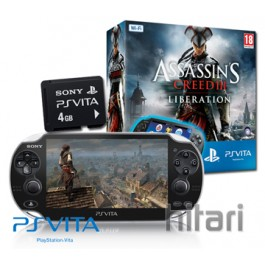PS Vita WiFi Console with Assassins Creed 3 Liberation + 4GB Memory Card