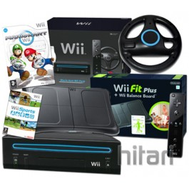 Nintendo Wii Console Black Mario Kart Limited Edition with Wii Fit Balance Board
