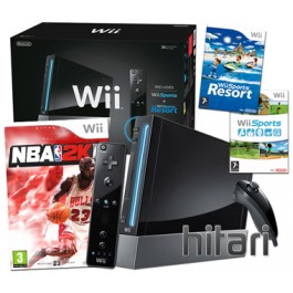 Nintendo Wii Console Black with NBA 2K11