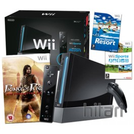 Nintendo Wii Console Black with Prince Of Persia The Forgotten Sands