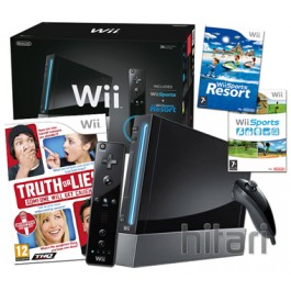 Nintendo Wii Console Black with Truth or Lies