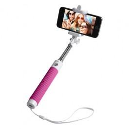 Groov-e Wireless Selfie Stick Self-Portrait Monopod + Remote Shutter Pink (GVSS01PK)