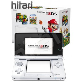 Nintendo 3DS Ice White Console and Super Mario 3D Land Game
