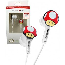 Officially Licensed Mushroom Earbuds for Nintendo 3DS or any 3.5mm jacks device