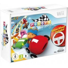 Pocoyo Racing Nintendo Wii with Racing Wheel