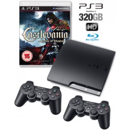 Sony PS3 console 320GB + 2 Controllers + Castlevania: Lords of Shadow Bundle