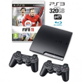 Sony PS3 console 320GB + 2 Controllers + FIFA 11 Bundlde