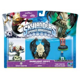 Skylanders Spyros Adventure Pack Dark Light Crypt Ghost Rider Time Twister and Healing Elixir