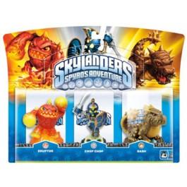 Skylanders Spyros Adventure Triple Characters Chop Chop Bash and Eruptor