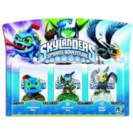 Skylanders Spyros Adventure Triple Character Pack Wrecking Ball Stealth Elf Sonic Boom