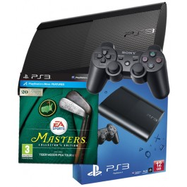 PS3 500GB UK Black Console + Tiger Woods PGA Tour 13 Masters PS3