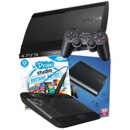 PS3 500GB UK Black Console + uDraw Tablet inc Instant Artist PS3