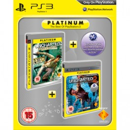 Uncharted Drakes Fortune and Uncharted 2 Among Thieves Platinum Double Pack PS3