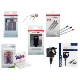 3DS Bundle - Stylus Pack + Power Supply + Earbuds +Organiser + Car Adaptor