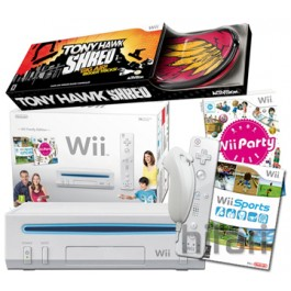 Nintendo Wii Console White and Tony Hawks Shred with Board Bundle