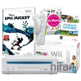 Nintendo Wii Console White and Epic Mickey Nintendo Wii