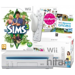 Nintendo Wii Console White with The Sims 3 Wii