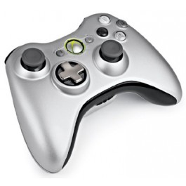 Xbox 360 Wireless Controller with Play and Charge Kit Silver