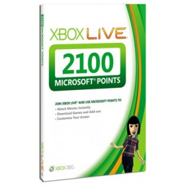 Xbox LIVE 2100 Microsoft Points Xbox 360 UK Only