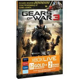 Xbox Live Gears of War 3 12 plus 2 bonus months Xbox 360