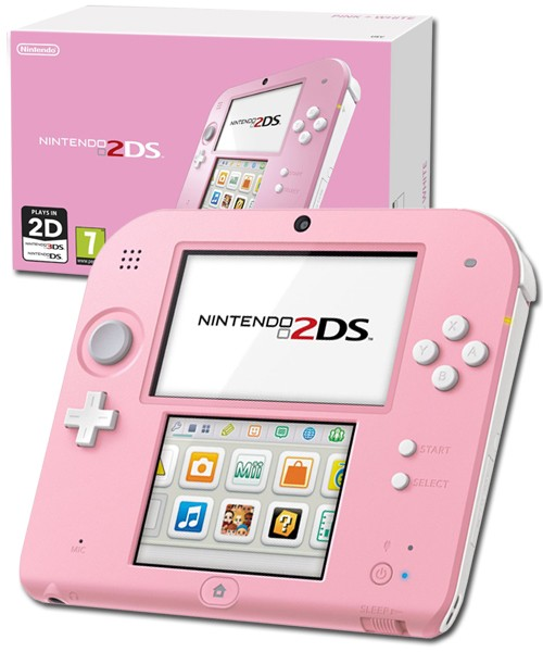 Nintendo Handheld Console 2ds Pink White