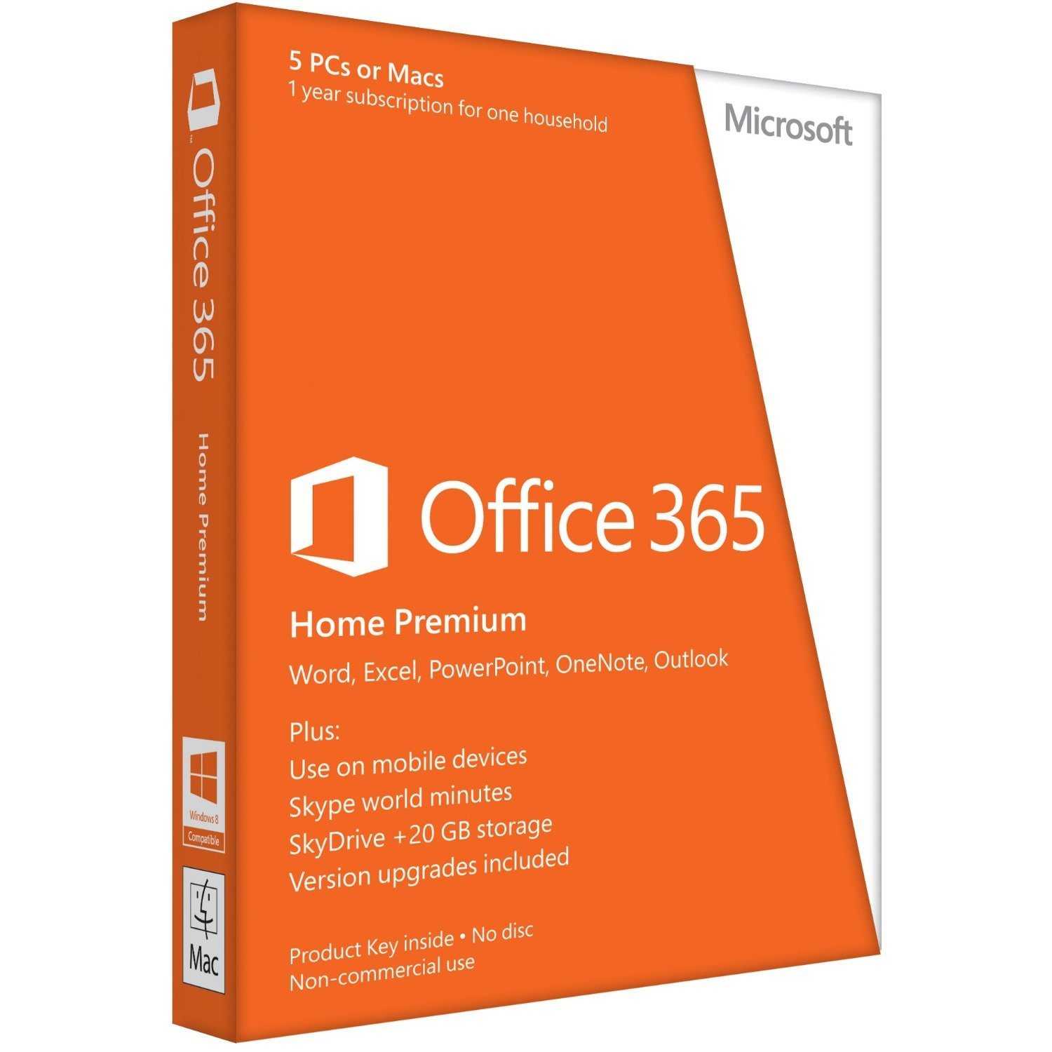 microsoft office 365 home premium licence card 5 users 1 year sub pc mac. Black Bedroom Furniture Sets. Home Design Ideas