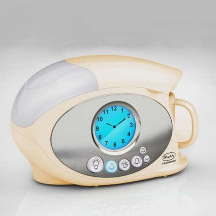 Swan Coffee Maker Alarm Clock : Swan STM100CREN Teasmade and Alarm Clock Cream