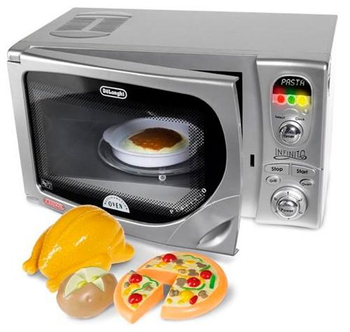Casdon Delonghi Microwave Kitchen Pretend Role Play Kids Toy