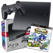 Sony PlayStation3 PS3 320GB Console with Sonic Generations