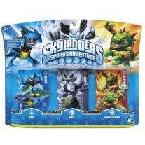 Skylanders Spyros Adventure Triple Character Pack Zap Hex Dino Rang