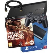 Sony PS3 12GB Console + HDMI Cable + Medal of Honor Warfighter PS3 Bundle