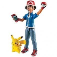 Pokemon Ash and Pikachu Figure set with mini Poke Ball Pokedex