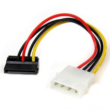 StarTech 6in 4 Pin Molex to Left Angle SATA Power Cable Adapter
