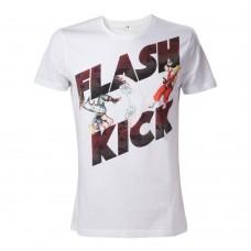 Capcom Street Fighter IV Adult Male Guiles Flash Kick T-Shirt M Size - White