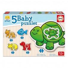 Educa Borras Baby Animals 5 Piece Set Jigsaw Puzzle (14864)