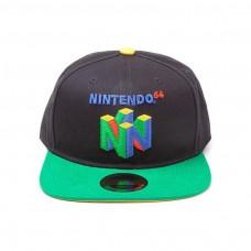Nintendo Original N64 Logo Snapback Baseball Cap Multi-colour (SB097565NTN)