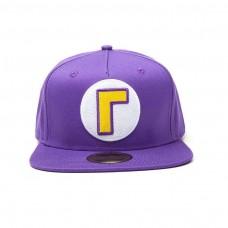 Super Mario Bros Waluigi Logo Snapback Baseball Cap - Purple (SB092402NTN)