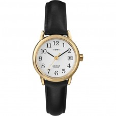 Timex Easy Reader Date Watch with Dial Analogue Display and Leather Strap