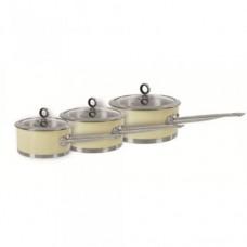 Morphy Richards 46392 Pan Set 3pcs 16/18/20cm Cream