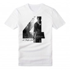 Uncharted 4 Adult Male Silhouette 4 A Thiefs End T-Shirt Medium Size - White