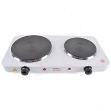 Lloytron KitchenPerfected 2500w Double Hotplate - White (E4201WH)
